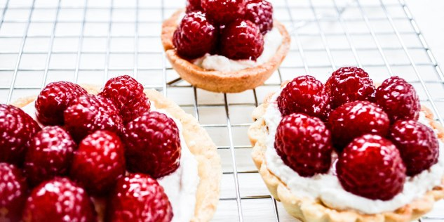 ironstone kitchen - delicious raspberry tarts