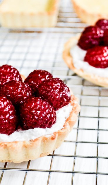 ironstone kitchen - pretty raspberry tarts