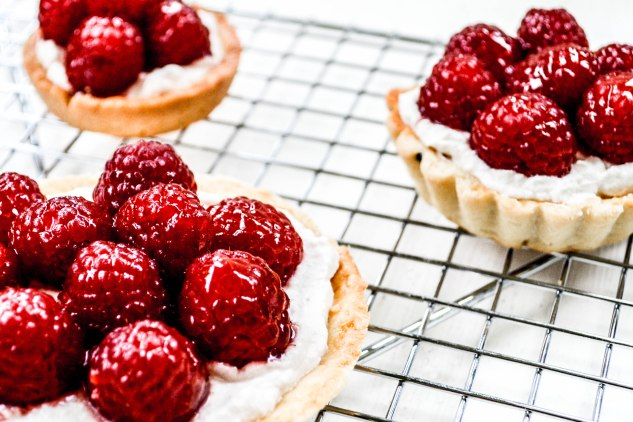 ironstone kitchen - raspberry tarts - yum