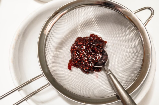 ironstone kitchen - straining jam