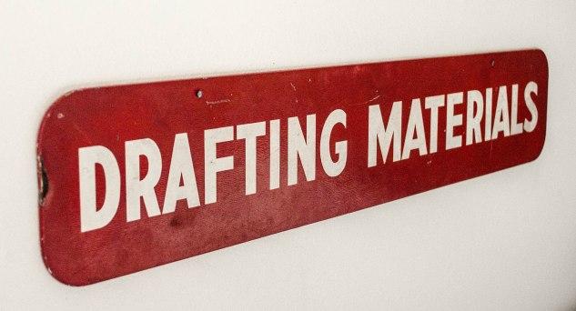 studio cloth - drafting sign