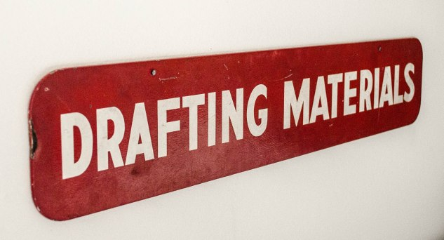 studio cloth - drafting sign