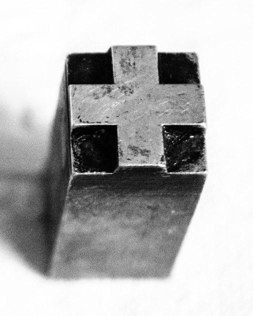 studio cloth - letterpress cross