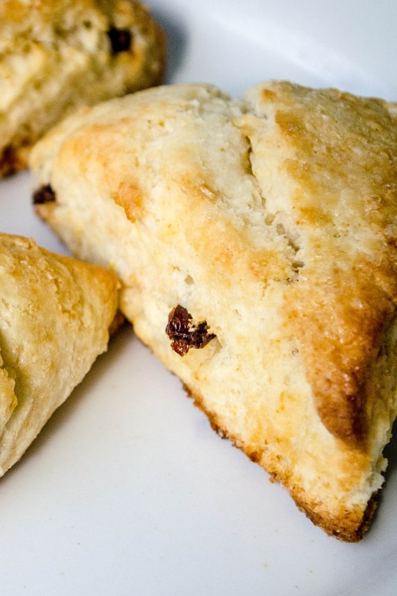 komedal road scones lemon zest and currants