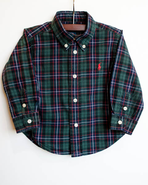 Komedal Road Boys Shirt Green Plaid 1