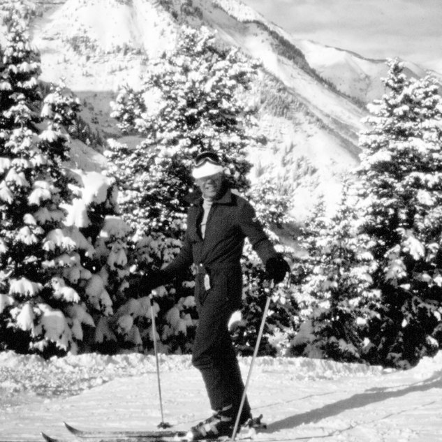 Dad skiing