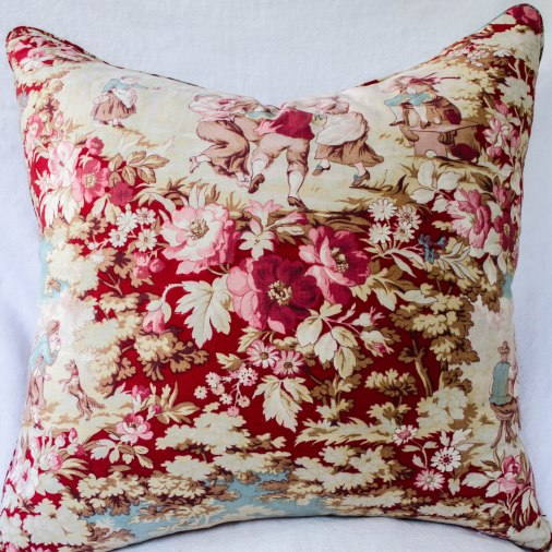 komedal road - gorgeous french toile pillow 1