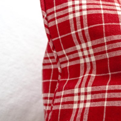 komedal road - red plaid euro pillow with mini welt 2