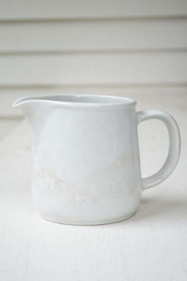 komedal road - small white ironstone pitcher 3