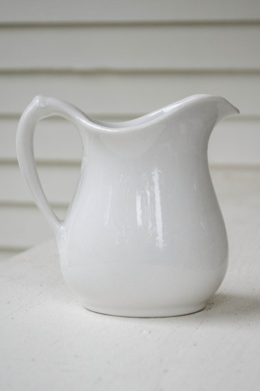 komedal road - white ironstone pitcher 4