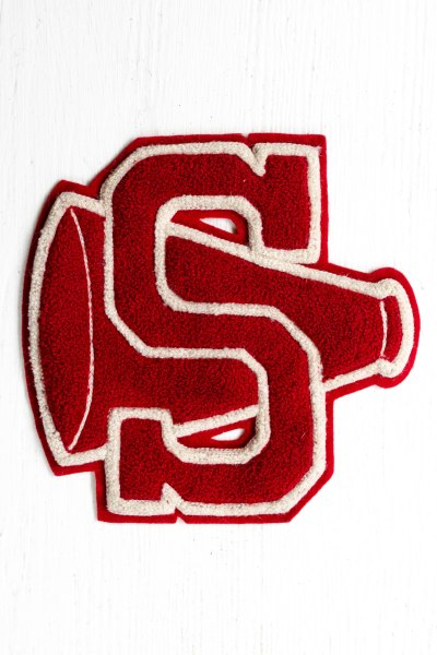 "komedal road - cheerleading letterman's letter ""S"""
