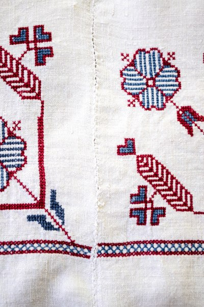 komedal road - embroidered fabric 1