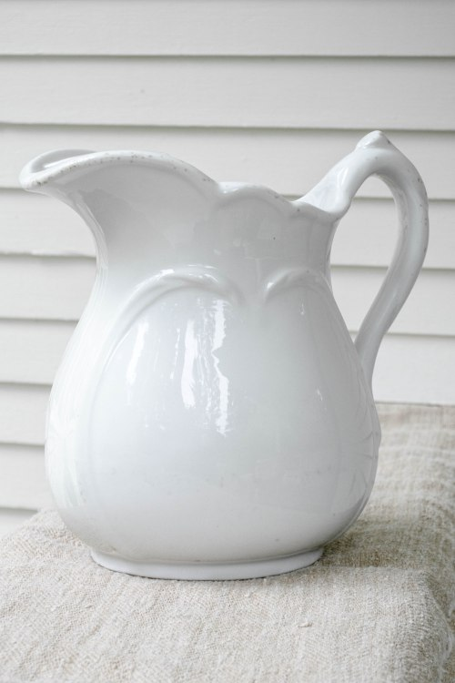 komedal road - ironstone pitcher with ice lip