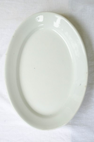Large Ironstone Platter front