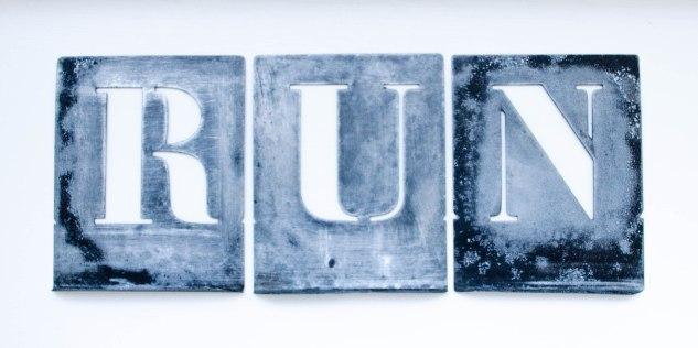 Komedal Road - Sept. 2014 - Studio Art Walk - Stencils - Run