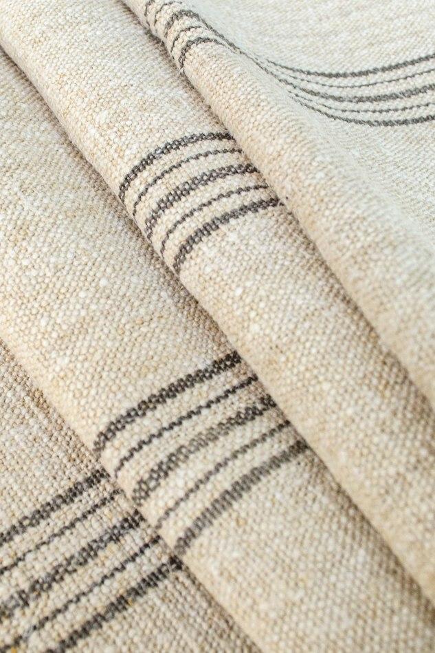 Komedal Road - Grainsack Fabric - Grey Stripes 3
