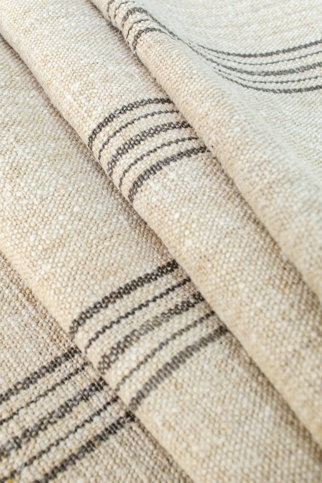 Komedal Road - Grainsack Fabric - Grey Stripes 3