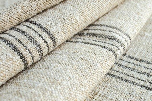 Komedal Road - Grainsack Yardage - Grey Stripes 4