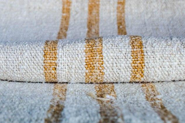 Komedal Road - Grainsack Yardage - Mustard Stripes 2