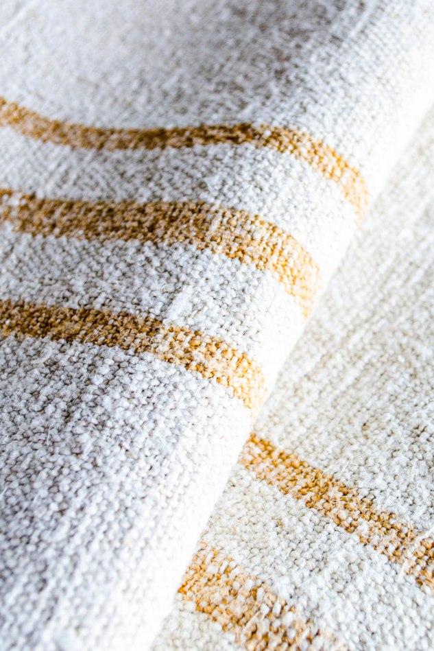 Komedal Road - Grainsack Yardage - Mustard Stripes 3