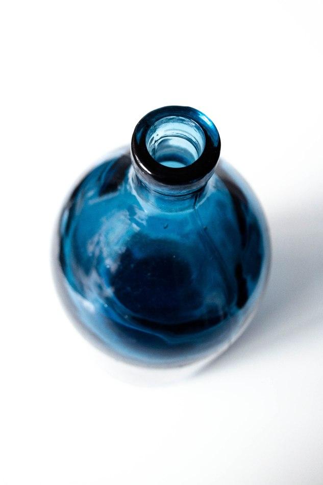 Komedal Road - Indigo Blue Selzer Bottle - Top View