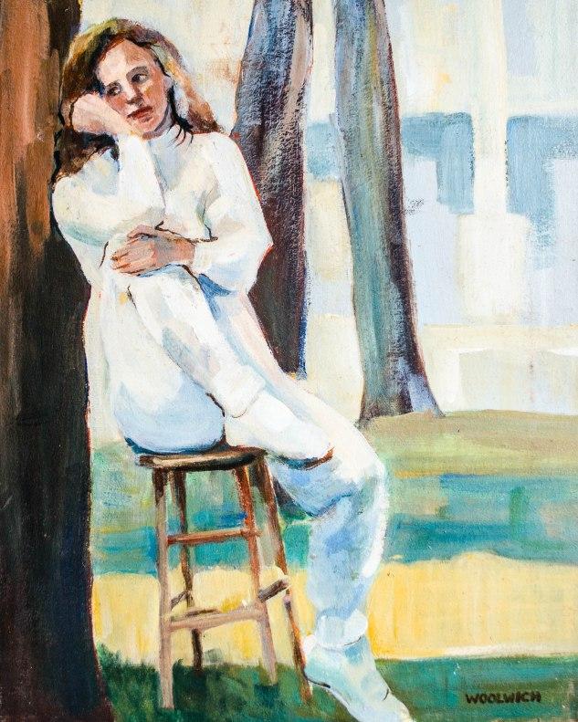 Komedal Road - Painting - Woman Resting 5