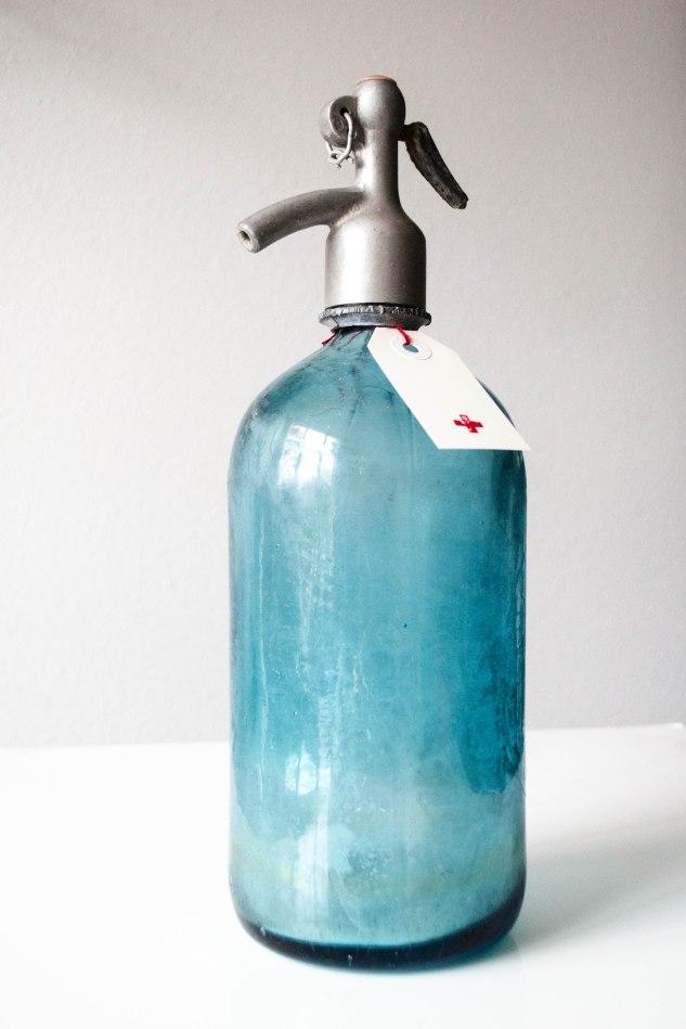 Komedal Road - Sea Glass Blue Selzer Bottle