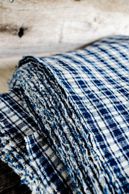 komedal road - handwoven textiles - blue plaid