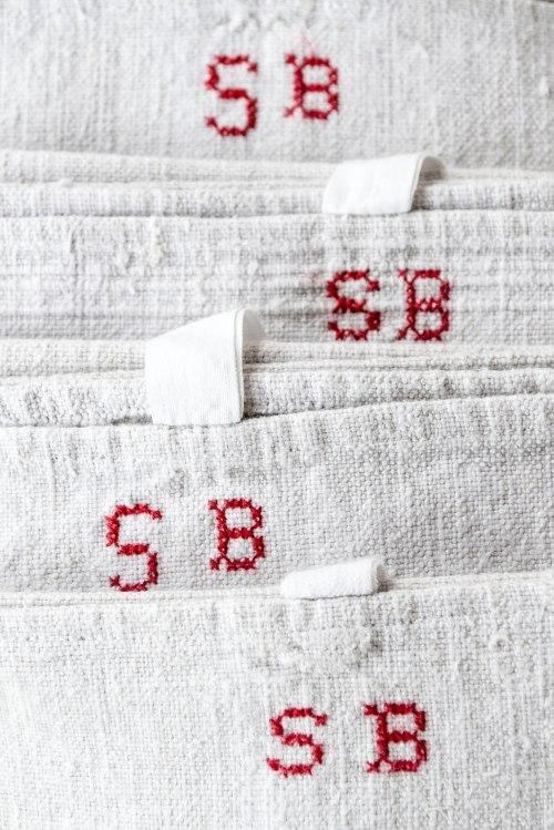 komedal road - monogrammed european hand towels