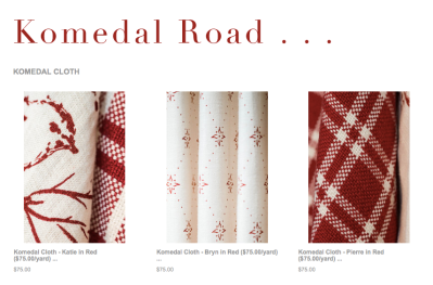 Komedal Road - Komedal Cloth
