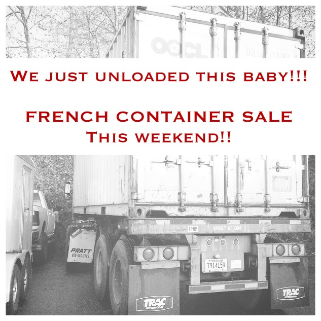 FRENCH MARKET GOODS - Container Sale 2015
