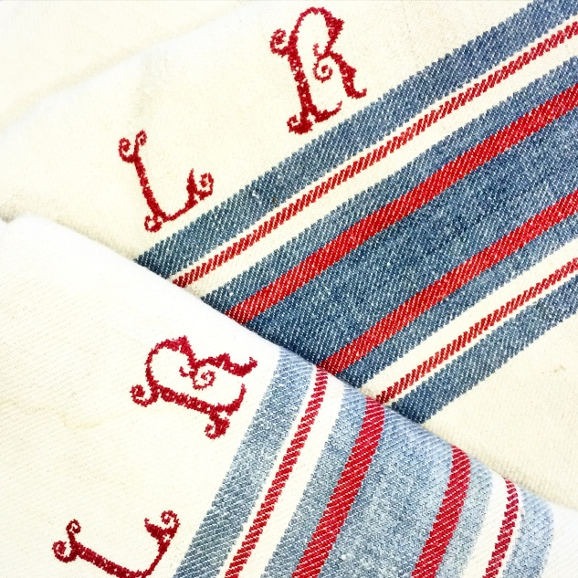FRENCH MARKET GOODS - COW BLANKET WITH LR MONOGRAM