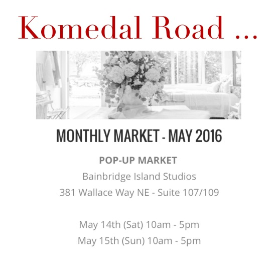 Komedal Road - May Pop-Up Market 2016